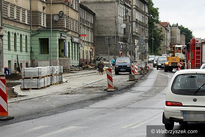 Wałbrzych: Prace na Armii Krajowej postępują