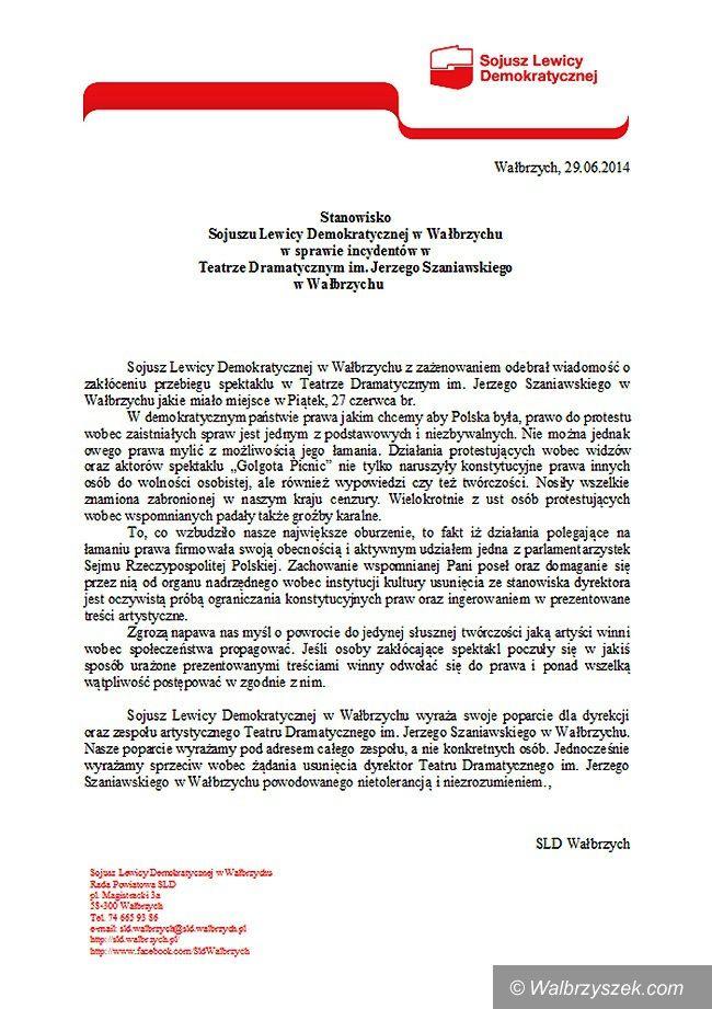 Wałbrzych: SLD staje w obronie Danuty Marosz