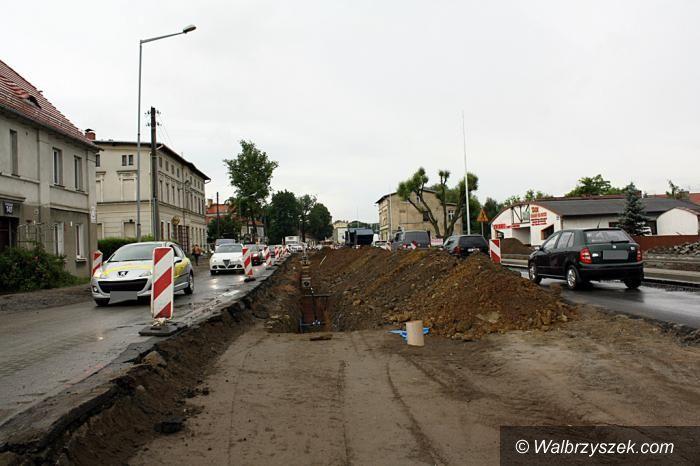 Wałbrzych: Zmiana organizacji ruchu na wjeździe do Wałbrzycha