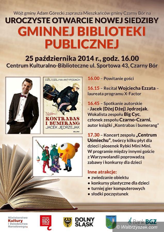 REGION, Czarny Bór: W sobotę otwarcie nowej biblioteki w Czarnym Borze