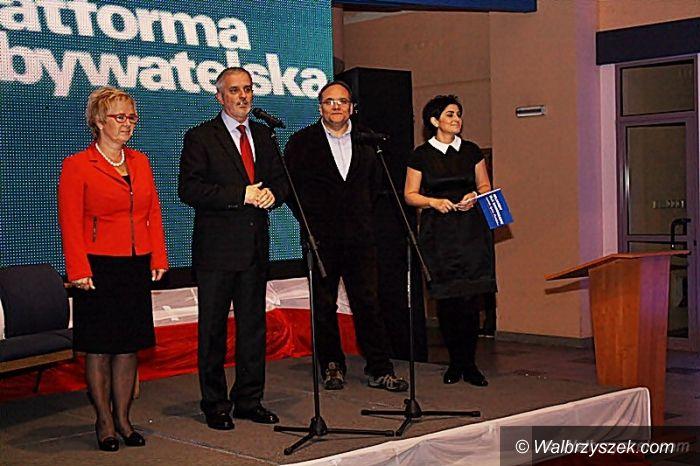 Wałbrzych: Wieczór wyborczy PO