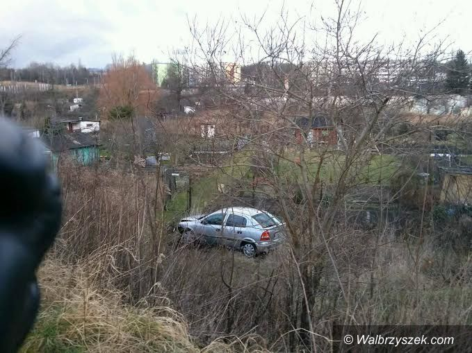 Wałbrzych: Opel wypadł z drogi