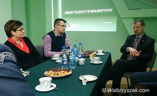 powiat wałbrzyski: Spotkanie w areszcie śledczym