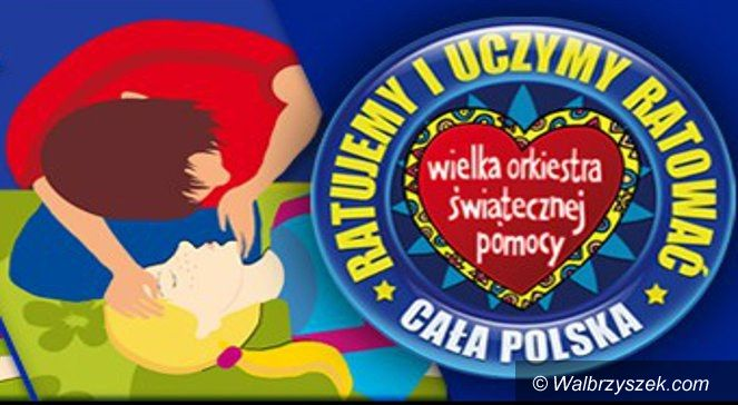 """Wałbrzych/Region: Akcja Fundacji WOŚP – """"Pierwsza Pomoc – to dziecinnie proste"""""""