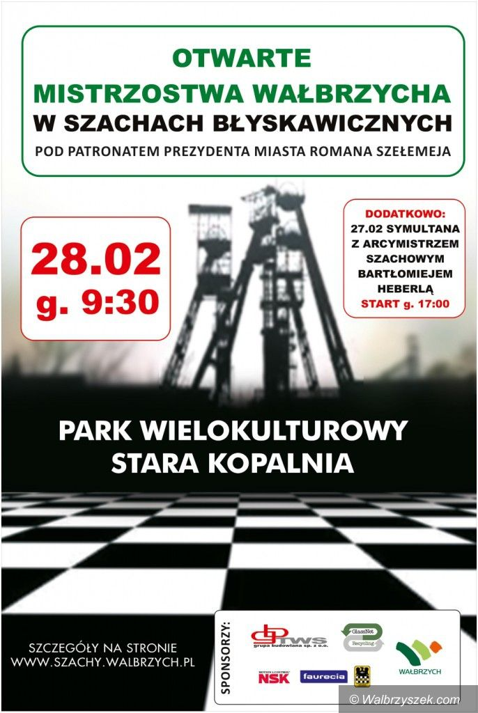 Wałbrzych: Zapraszamy na turniej szachowy