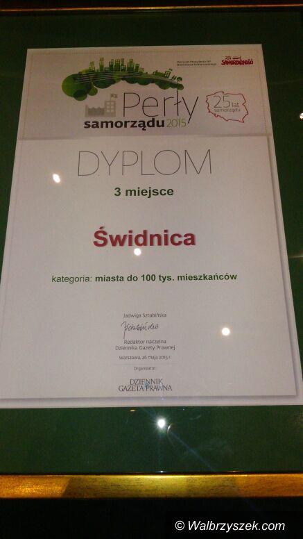 Świdnica: Świdnica zajęła III miejsce w rankingu Dziennika Gazety Prawnej – Perły Samorządu