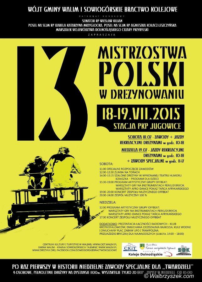 REGION, Jugowice: XIII Mistrzostwa Polski w Drezynowaniu