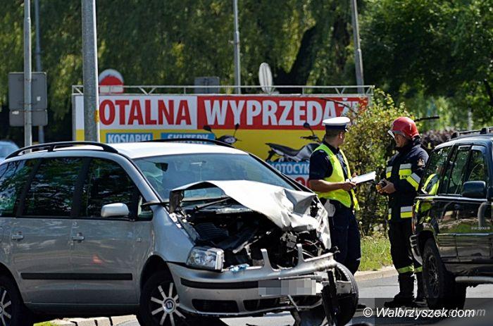 Wałbrzych: Wypadek na ulicy Kolejowej