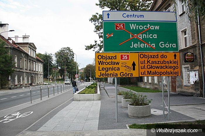 Wałbrzych: Trwa remont ulicy Sikorskiego