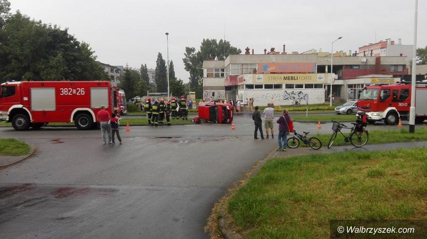 Wałbrzych: Na Hetmańskiej doszło do wypadku