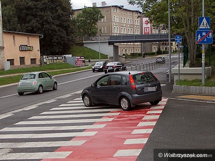 Wałbrzych: Kontrowersyjne ścieżki rowerowe i przejścia dla pieszych