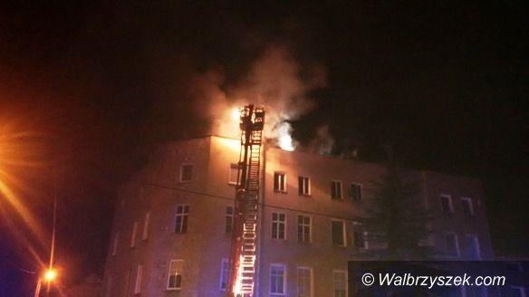 REGION, Sokołowsko: Pożar budynku wielorodzinnego w Sokołowsku