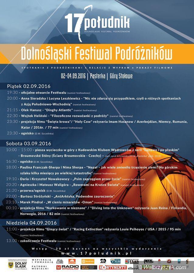 REGION: 5 edycja Dolnośląskiego Festiwalu Podróżników – 17 Południk
