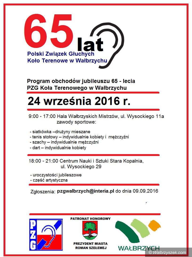 Wałbrzych: Jubileusz Związku Głuchych w Wałbrzychu