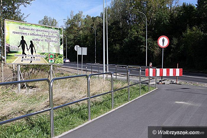 Wałbrzych: Ścieżka rowerowa wzdłuż ul. Wysockiego