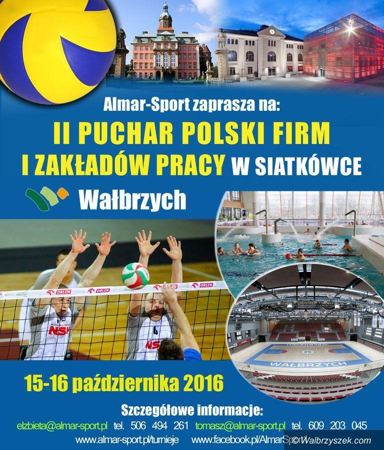 Wałbrzych: II Puchar Polski firm i zakładów pracy w siatkówce