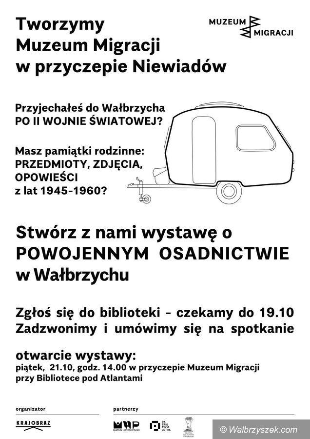 Wałbrzych: Muzeum Migracji w Przyczepie Niewiadów