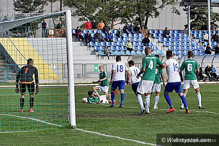 Wałbrzych: III liga piłkarska: Pierwsza domowa wygrana