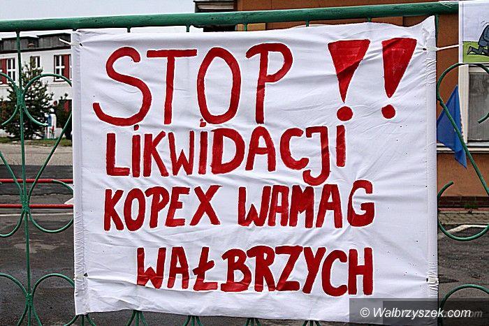 Wałbrzych: Protest zwolnionych pracowników WAMAG–u