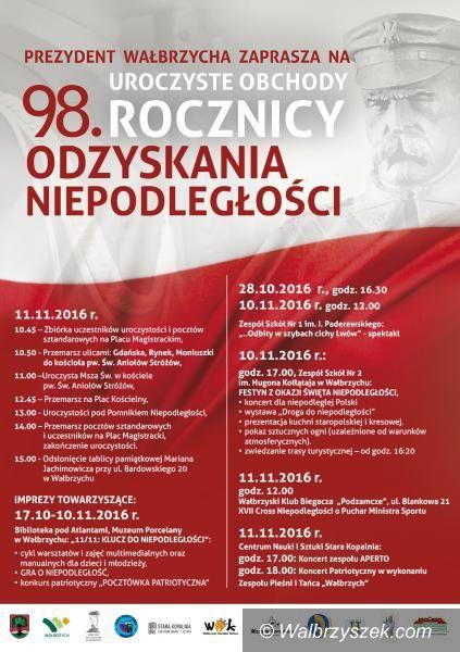 Wałbrzych: Jutro obchody Święta Niepodległości