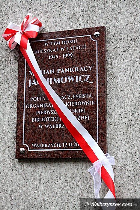 Wałbrzych: Tablica pamiątkowa Mariana Jachimowicza