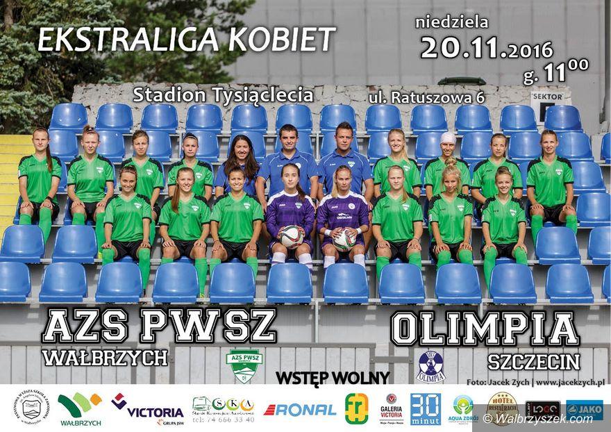 Wałbrzych: Ekstraliga piłkarska kobiet: Na zakończenie roku z Olimpią