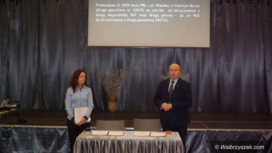 REGION, Czarny Bór: Umowa podpisana – czas na remont drogi w Czarnym Borze