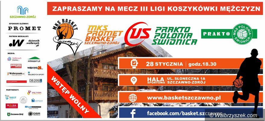 Szczawno Zdrój: III liga koszykówki: Zagramy z Prakto–Polonią