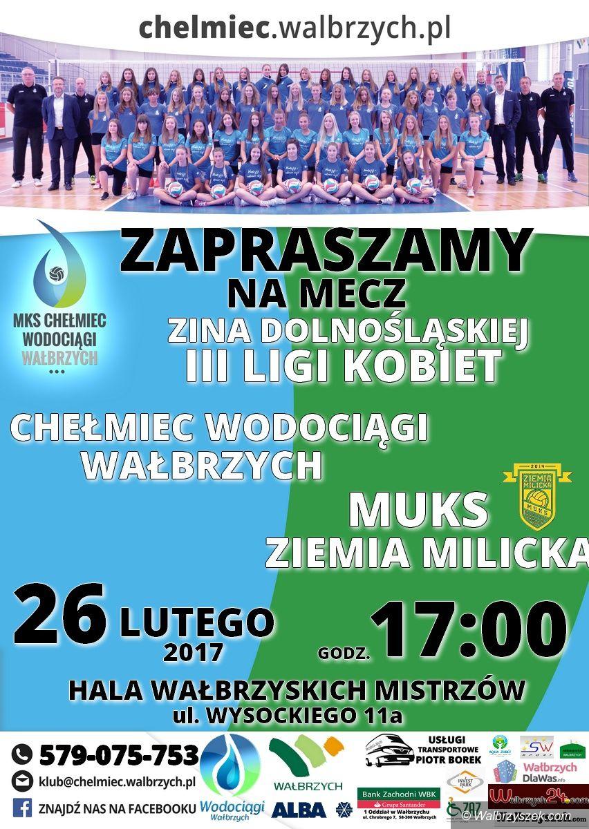 Wałbrzych: III liga siatkówki: Będzie okazja zobaczyć w akcji siatkarki Chełmca