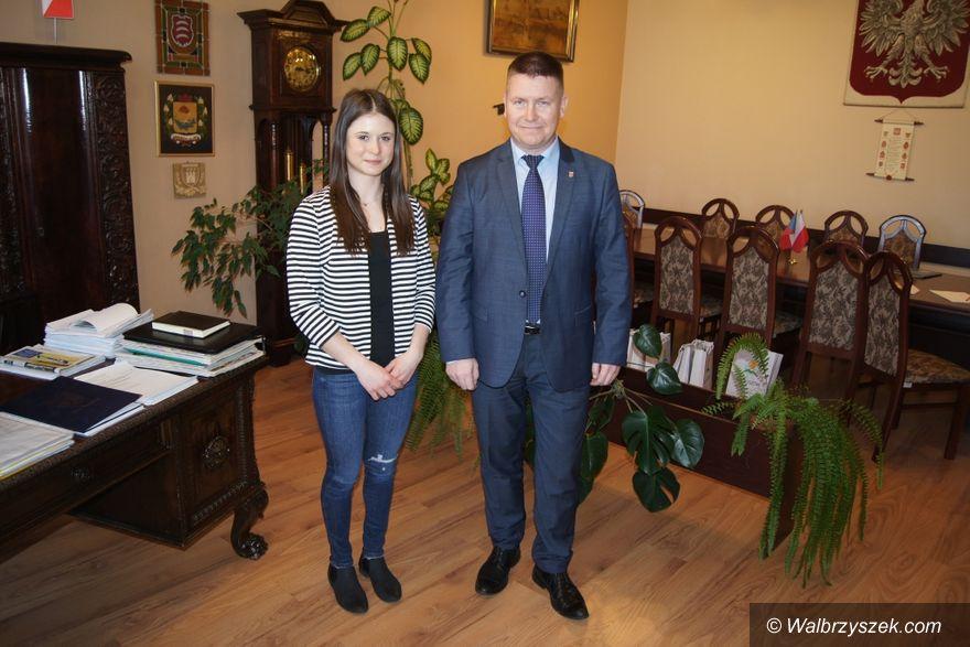 REGION, Mieroszów: Burmistrz gościł brązową medalistkę