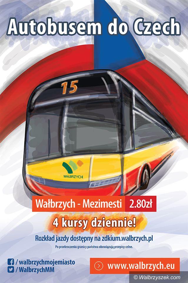 Wałbrzych: Od kwietnia 4 kursy dziennie z Wałbrzycha do czeskiego Mezimesti