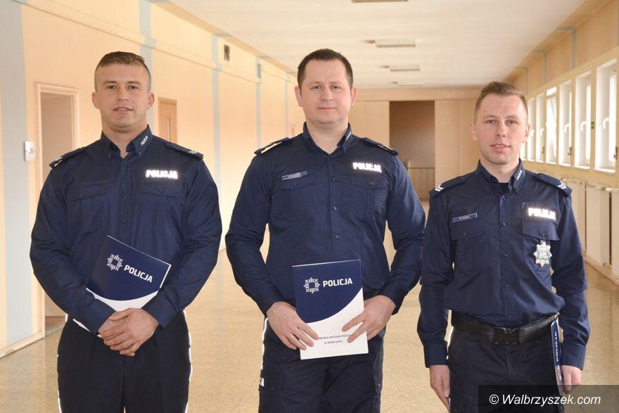 Wałbrzych: Listy gratulacyjne dla wałbrzyskich policjantów