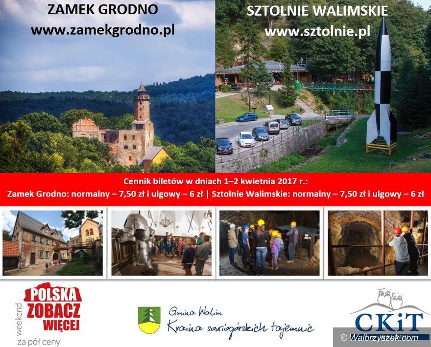 REGION, Walim: Zamek Grodno i Sztolnie Walimskie za pół ceny