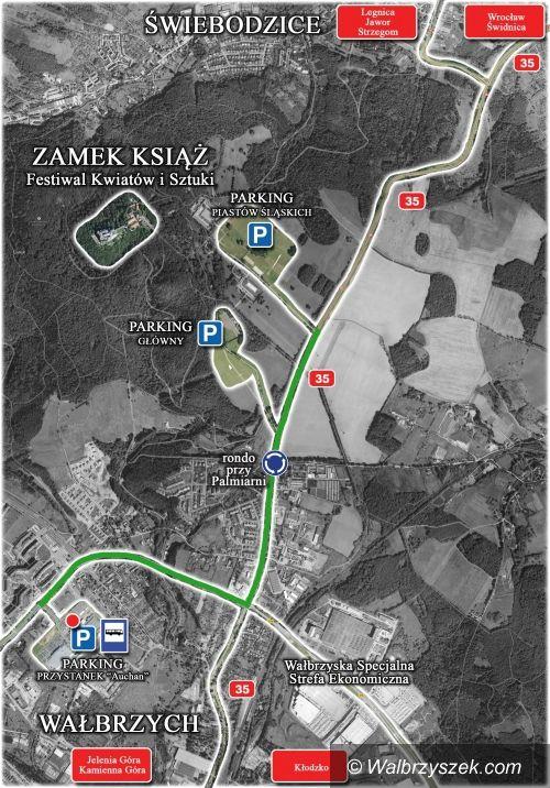 Wałbrzych: Dziś część parkingów w okolicach Zamku Książ będzie czynna