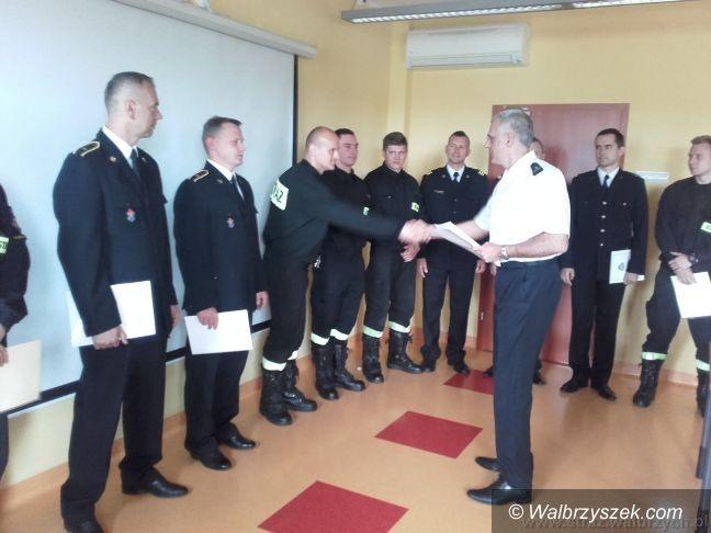 Wałbrzych: Kolejne awanse zawodowe wałbrzyskich strażaków
