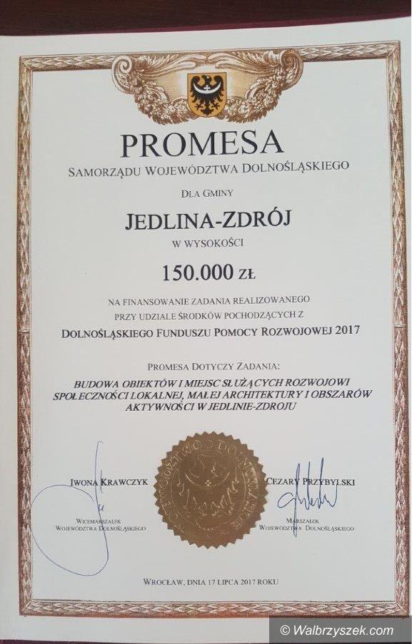 REGION, Jedlina-Zdrój: Promesa dla Jedliny–Zdroju