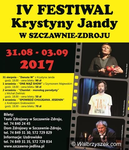 REGION, Szczawno-Zdrój: Już wkrótce kolejny Festiwal Krystyny Jandy