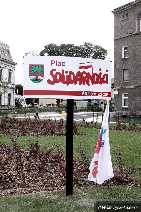 Wałbrzych: Plac Solidarności – uroczyste nadanie nazwy