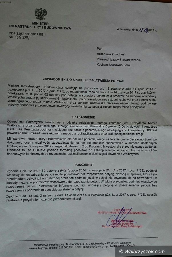Wałbrzych/Szczawno-Zdrój: Czy to jest przełom w sprawie budowy obwodnicy Wałbrzycha?