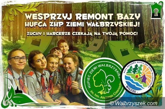 Wałbrzych: Baza obozowa Hufca ZHP Ziemi Wałbrzyskiej czeka na remont