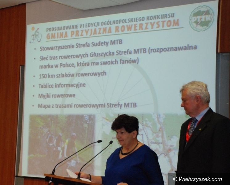 """REGION, Głuszyca: Certyfikat """"Gminy Przyjaznej Rowerzystom"""" dla Głuszycy"""