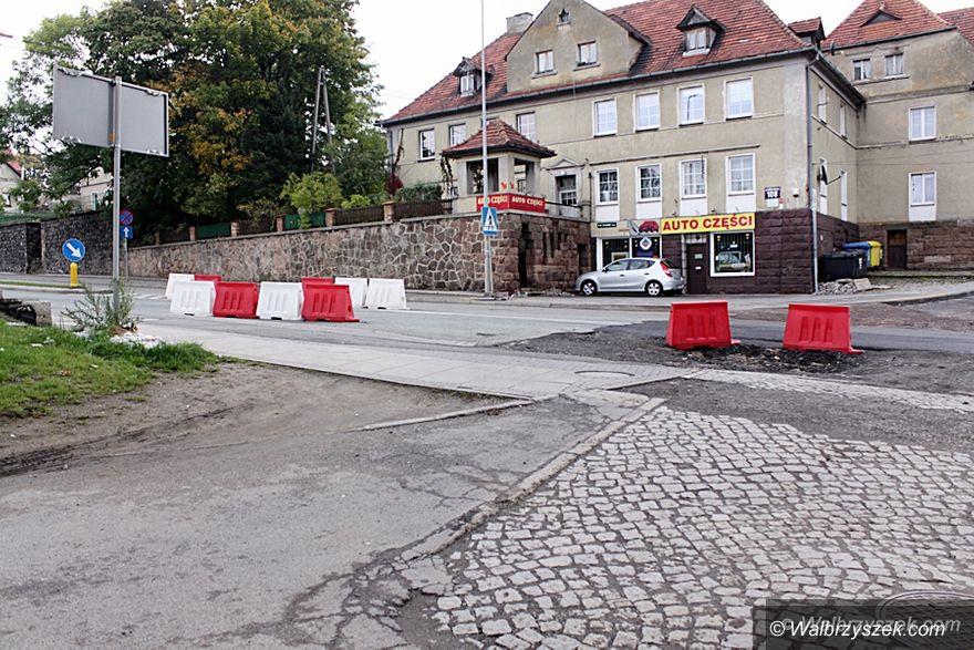 Wałbrzych: Ulica Wrocławska w trakcie remontu