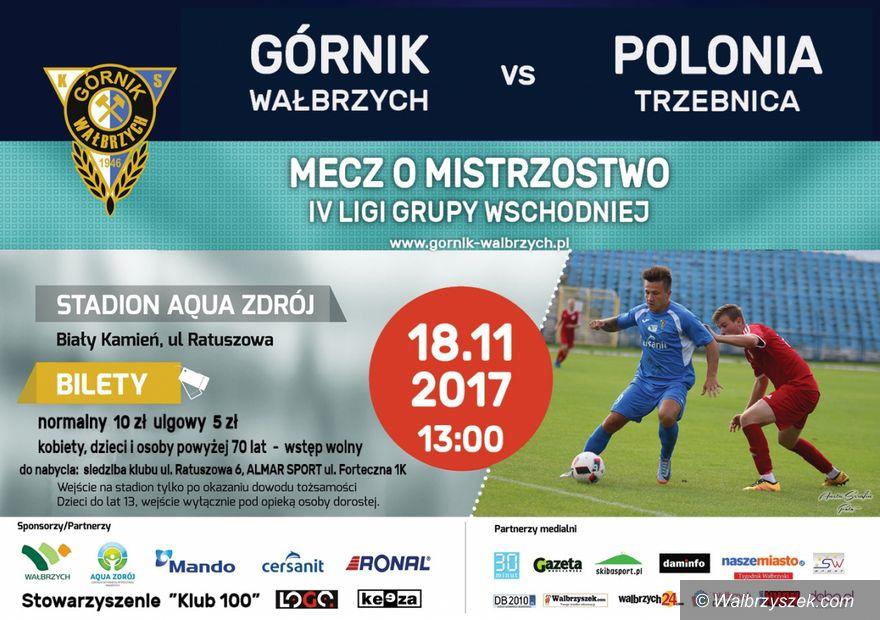Wałbrzych: IV liga piłkarska: Pora na zwycięstwo