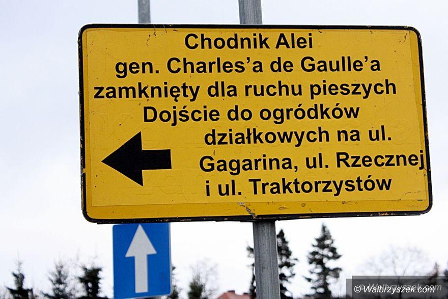 Wałbrzych: Trwają prace na al. De Gaulle'a