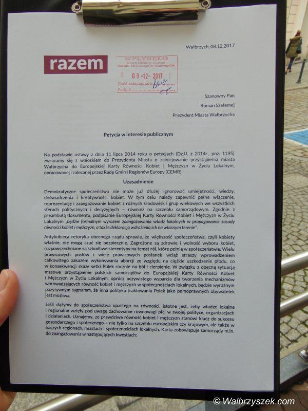 Wałbrzych: Wałbrzych miastem równości? Partia Razem składa petycję