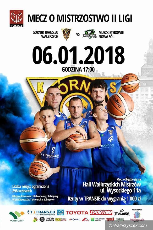 Wałbrzych: II liga koszykówki: Na początek roku zagramy z Muszkieterami