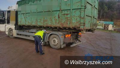 Wałbrzych/Jedlina-Zdrój: Nietrzeźwy kierowca niesprawnego samochodu ciężarowego zatrzymany