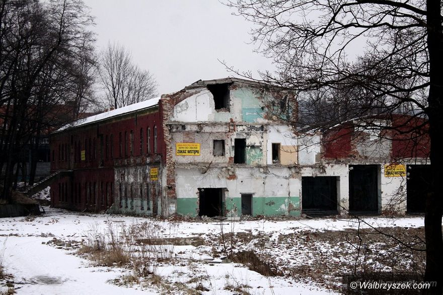 Wałbrzych: Niewiele pozostało po Fabryce Porcelany Wałbrzych
