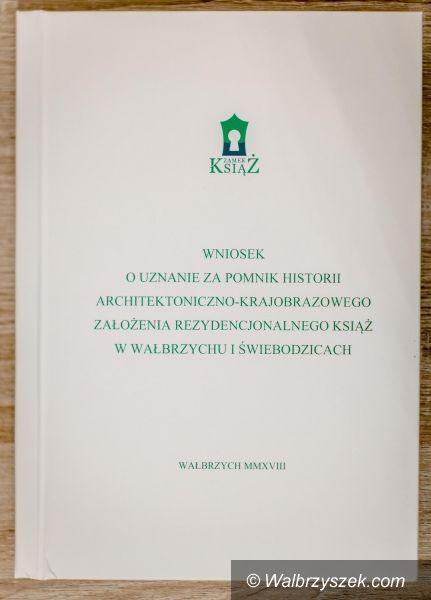 Wałbrzych: Zamek Książ stara się o status Pomnika Historii
