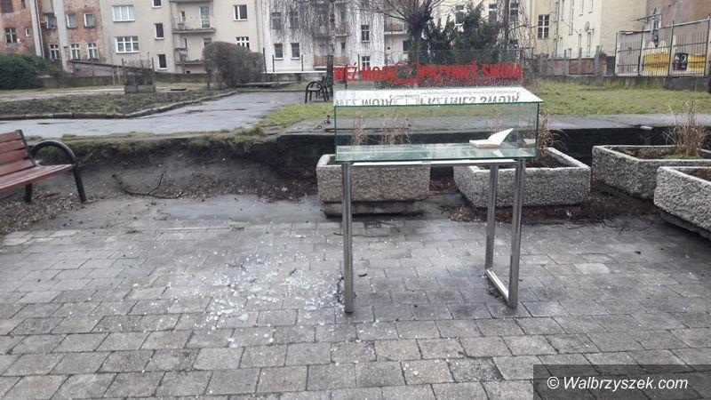 Wałbrzych: Rozbita gablota
